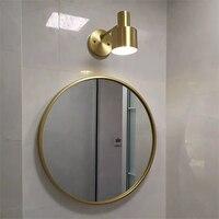 Современный золотой медный стенное бра altin гибкий свет зеркало параметры люксов освещения espejo прикроватный настенный светильник ванная ко