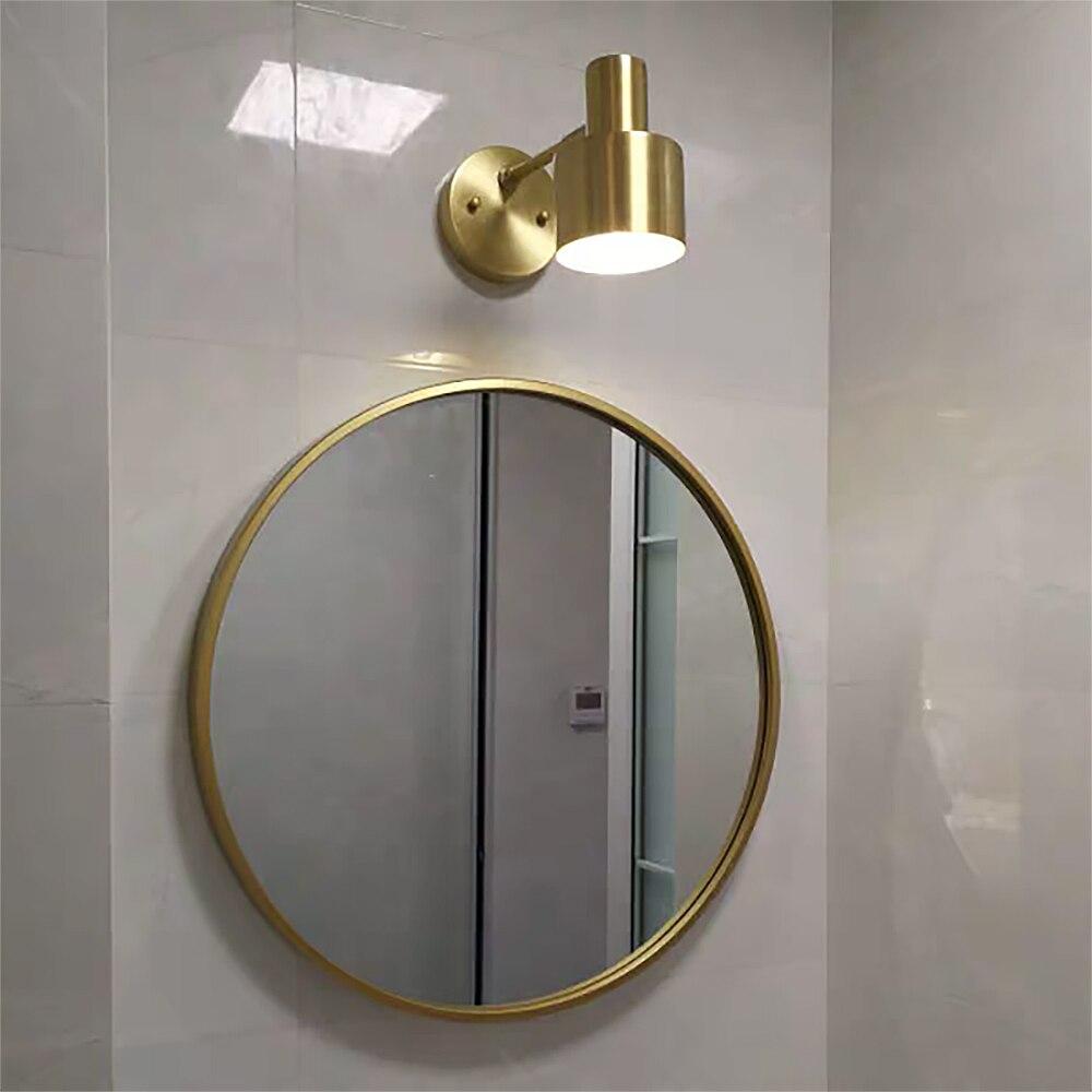 Современный настенный светильник altin из золотой меди, гибкий светильник luces para espejo, прикроватный настенный светильник для ванной комнаты,