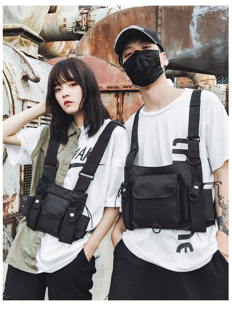 HTB1N1gdX1L2gK0jSZPhq6yhvXXam - Functional Tactical Chest Bag For Men Fashion Bullet Hip Hop Vest Streetwear Bag Waist Pack Women Black Chest Rig Bag 233
