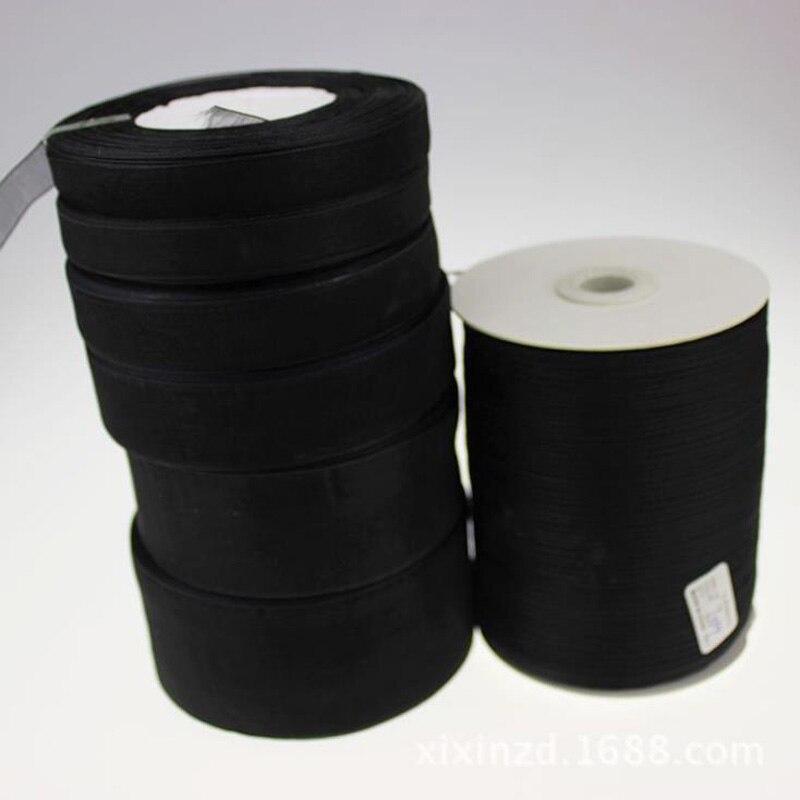 Xuezhiyu (50 ярдов/рулон) 12 15 19 25 38 мм Ширина черная лента из органзы для свадьбы Подарочная упаковка Рождественский Карнавал Украшения