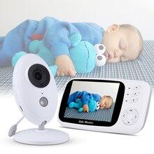 3.5 นิ้ว Wireless Video Baby Monitor กล้อง Night Vision Baby Sleep Nanny Security การตรวจสอบอุณหภูมิ LCD กล้องเด็ก