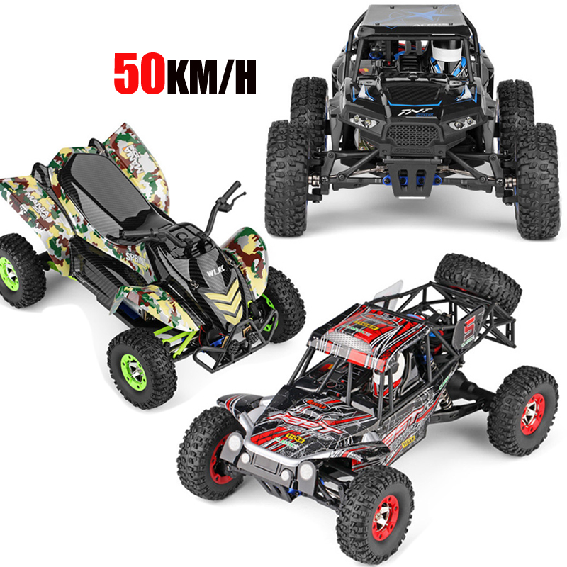 Original WLtoys 12428-A/B/C RC Car 1/12 Scale 2.4G Electric 4WD Remote Control Car 50KM/H High Speed RC Racing Off-road vehicle