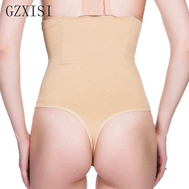 02f4522bd8aea Women Shapewear High Waist Tummy Control Body Shaper Underwear Seamless  Thong Panties Slimming Girdles Bodysuit Corset