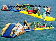 2016 hot product inflatable water sports water park jumping bed in water for sale