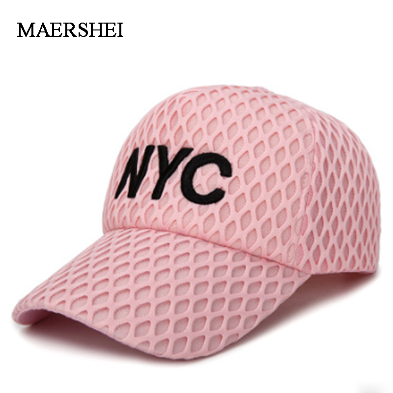 MAERSHEI Baseball Cap Snapback Hat Fashion Cotton Hats Mens Letter <font><b>NYC</b></font> Women Casual Baseball Caps Brand Casquette New Caps image