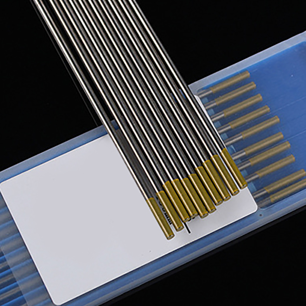 Aletler'ten Tungsten Elektrot'de 1.0/1.6mm wl15 argon arkı kaynak lantanyum tungsten elektrot altın kafa 150mm kaynak lehimleme malzemeleri title=
