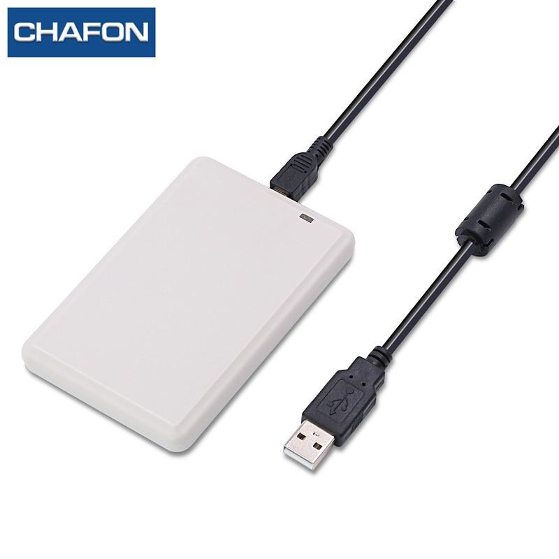 CHAFON uhf desktop usb leitor rfid uhf escritor ISO18000-6B/6C para sistema de controle de acesso livre uhf cartão de amostra, SDK software de demonstração