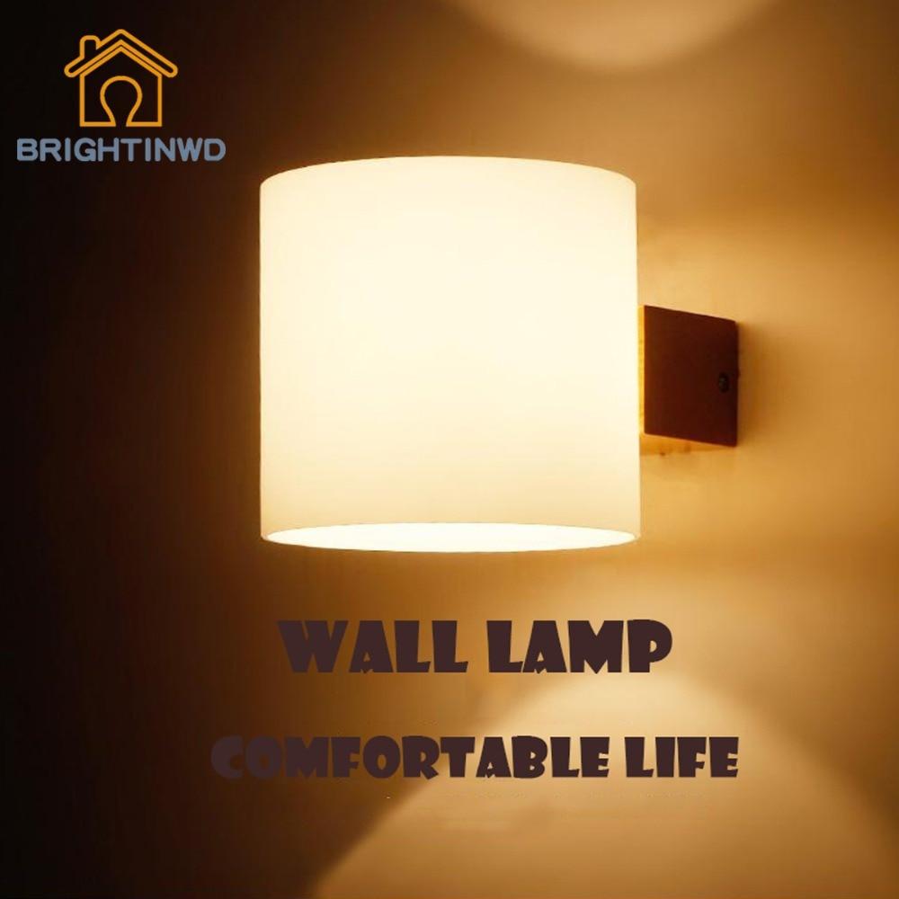 modern wooden led wall lamps bedroom bathroom home kitchen oak luminaria light solid aisle wall