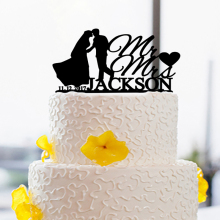 Love Cake Topper for Bride And Groom Wedding With Date and Name Design Unique Cake Toppers Custom