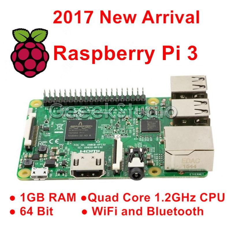 Raspberry Pi 3 Model B 1GB RAM Quad Core 1.2GHz 64bit CPU WiFi & Bluetooth newest raspberry pi 3 model b the 3rd generation kit 1 2ghz 64 bit quad core arm cortex a53 1gb ram 802 11n support wireless lan