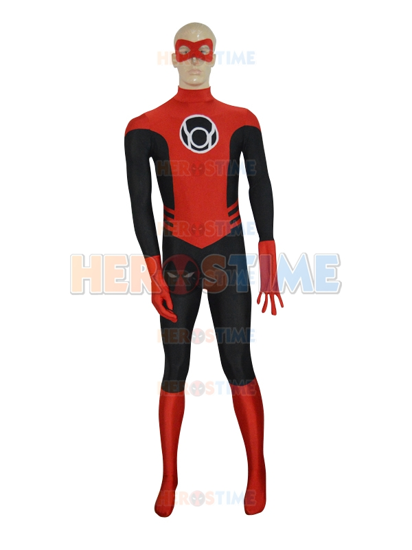 Red Lantern Costume Halloween Cosplay Costume Corps DC Comics Mens Superhero Costume spandex Tight Zentai Suit with eyes mask