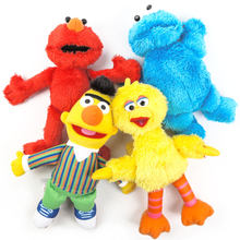 "Baru 5 Gaya Sesame Street Elmo Cookie Monster Big Bird Bert Ballerina Zoe 9 ""23 Cm Plush Boneka(China)"