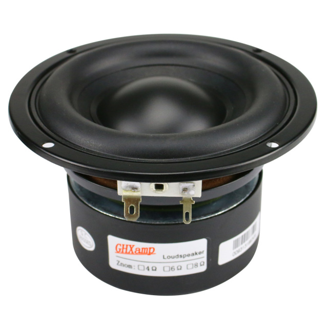 GHXAMP 4 Inch Woofer Subwoofer Speaker Unit 4ohm 40W Polymer Cap Long Stroke Rubber For Computer Multimedia Speaker Upgrade 1PC 3
