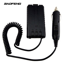 Original Baofeng Car Charger Battery Eliminator Adapter For UV-5R UV-5RB UV-5RA series Two Way radio Walkie Talkie Accessories(China)