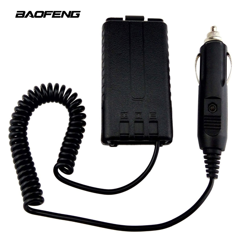 Original Baofeng Car Charger Battery Eliminator Adapter For UV-5R UV-5RB UV-5RA Series Two Way Radio Walkie Talkie Accessories