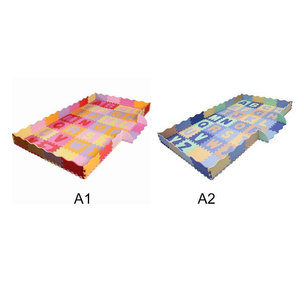 Tapis de jeu de bébé de modèle d'alphabet avec les tuiles de plancher de mousse de barrière tapis rampant pour le bébé enfant développant le tapis pour le tapis de jeu d'enfants - 3