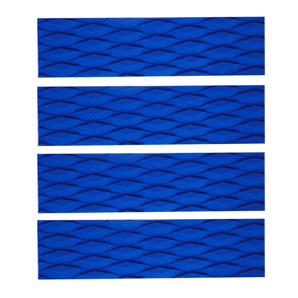4 pièces ultra-léger EVA diamant rainure planche de Surf écumeur tapis de Traction queue tampons Surf pont barre poignées-noir/Orange/bleu