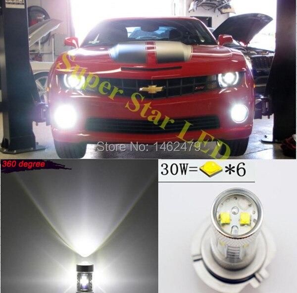 2x 5202 H16 PSX24W 6000K  For  Cree  Chips LED Fog  Lamp DRL Lights Bulbs For  GMC Chevy  Sierra Pickup HD Denali Acadia