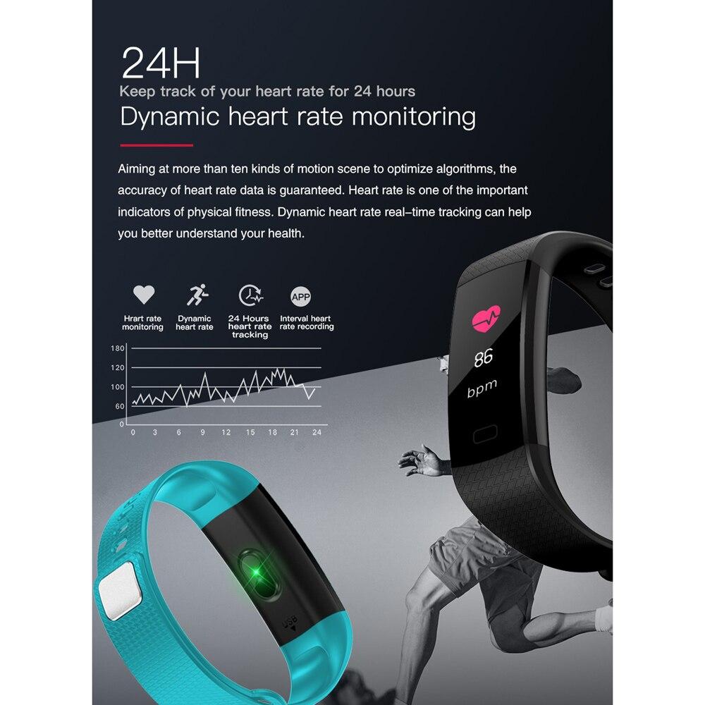 Reloj inteligente hombres Fitness Tracker la medición de la presión arterial Monitor de ritmo cardíaco rastreador de actividad impermeable reloj inteligente para IOS