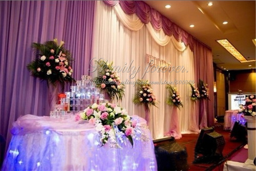 6meters width x3 meters height wedding backdrop curtainreception accessory party favors