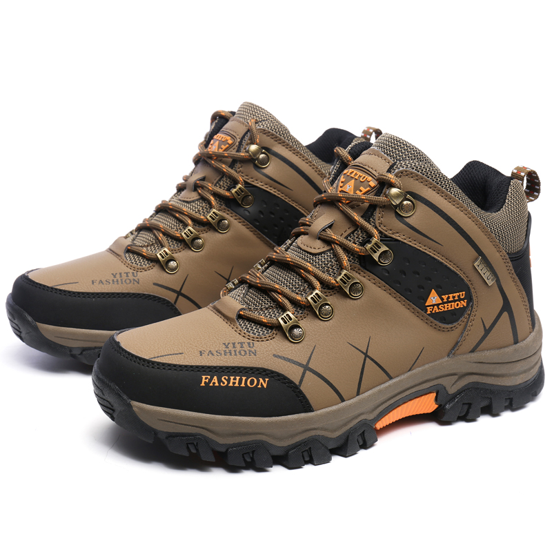 Sneakers Men Outdoor Tourism Hiking Shoes Breathable Trekking Shoes Sneakers Men Comfortable Boots Leather Men Tactical Shoes hifeos outdoor hiking shoes anti slip boots lace invisible increased men s shoes comfortable breathable sneakers climing m065