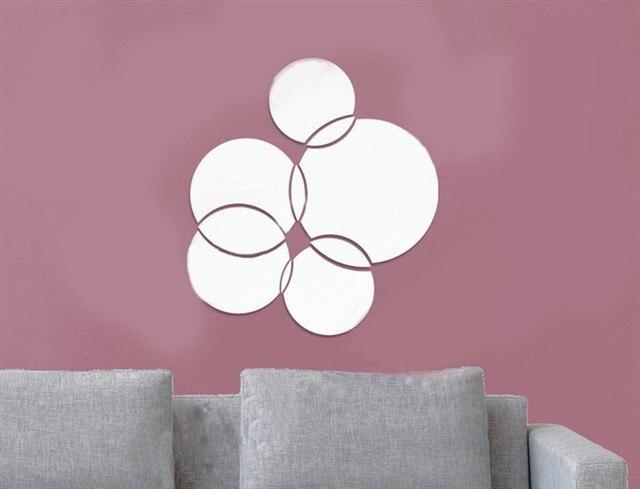 Mooie creatieve home decoratie 3d spiegel sticks voor livingroom