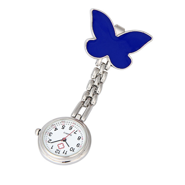 OTOKY Perfect  Gift   Nurse Clip-on Fob Brooch Pendant Hanging Butterfly Watch Pocket Watch New   Sep9