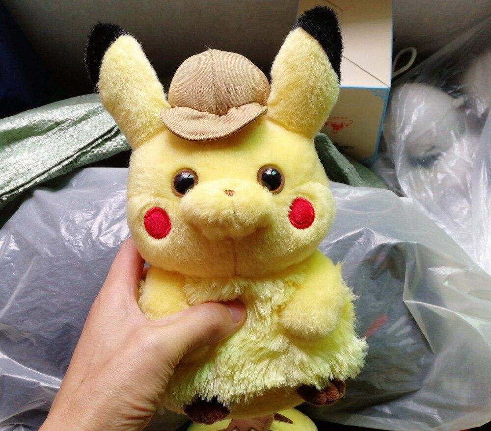 6 ชิ้น/ล็อตภาพยนตร์นักสืบ Pikachu Figures ของเล่น Pikachu รูปคุณภาพสูง Plush ตุ๊กตาเด็กวันเกิดของขวัญของเล่น 28 ซม.-ใน ภาพยนตร์และทีวี จาก ของเล่นและงานอดิเรก บน   2