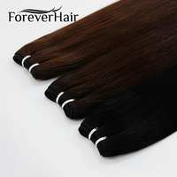 FOREVER HAIR 100g/pc Remy Human Hair Weaves Natural Black Color Straight Hair Extension Platinum Blonde Weaves Bundles 100g/pc