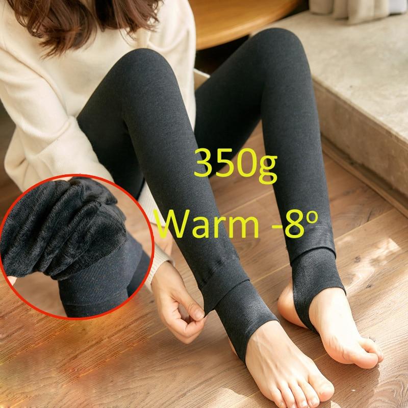 Warm   Leggings   for Women Milk Cotton Slim   Leggings   Single Cashmere Foot Wear Elastic Pants   Legging   Female Winter   Leggings