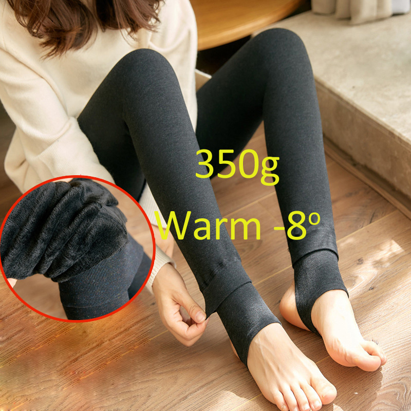 High Waist Warm Leggings For Women Milk Cotton Cashmere Foot Outwork Legging Pants Female Slim Single Winter Leggings Womens