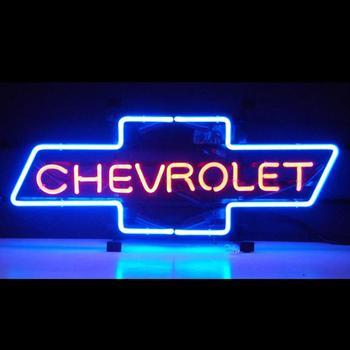 Custom CHEVROLET BOWTIE Glass Neon Light Sign Beer Bar
