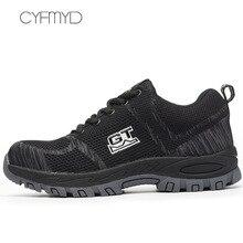Men sneakers breather brand vulcanize shoes for men size large 5.5-12.5 anti-smashing anti-piercing safety shoes men