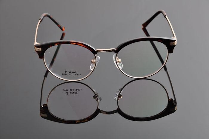 DEDING винтажные очки ретро Женская оправа с линзами при миопии Мужские Рецептурные очки оправа модные очки DD0886 - Цвет оправы: leopard gold