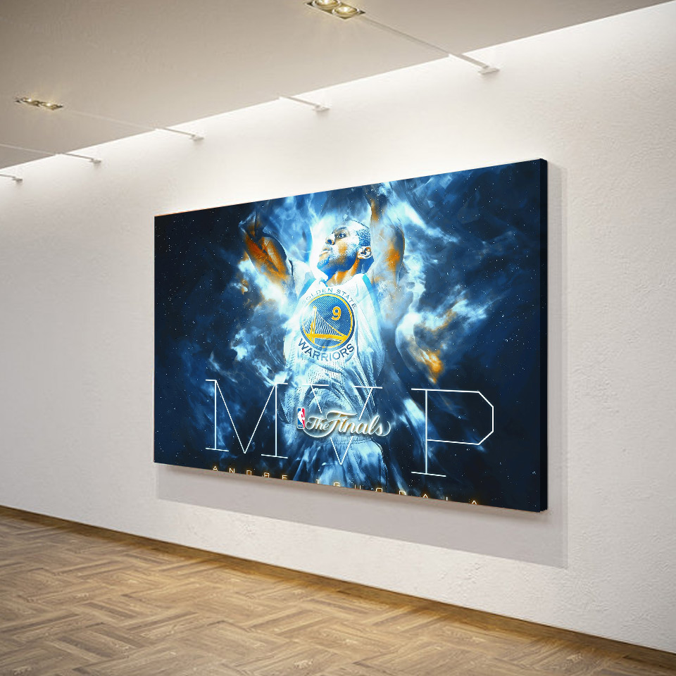 1 Pcs Set Framed Hd Printed Basketball Star Mvp Wall Art Canvas Pictures For Living