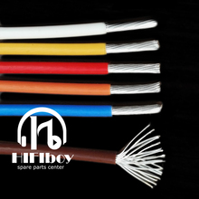 HIFIboy hifi cable Teflon cable 2.36MM 30AWG Silver Plated Teflon PTFE Wire Silver Plated Oxyten-Free Copper Cable