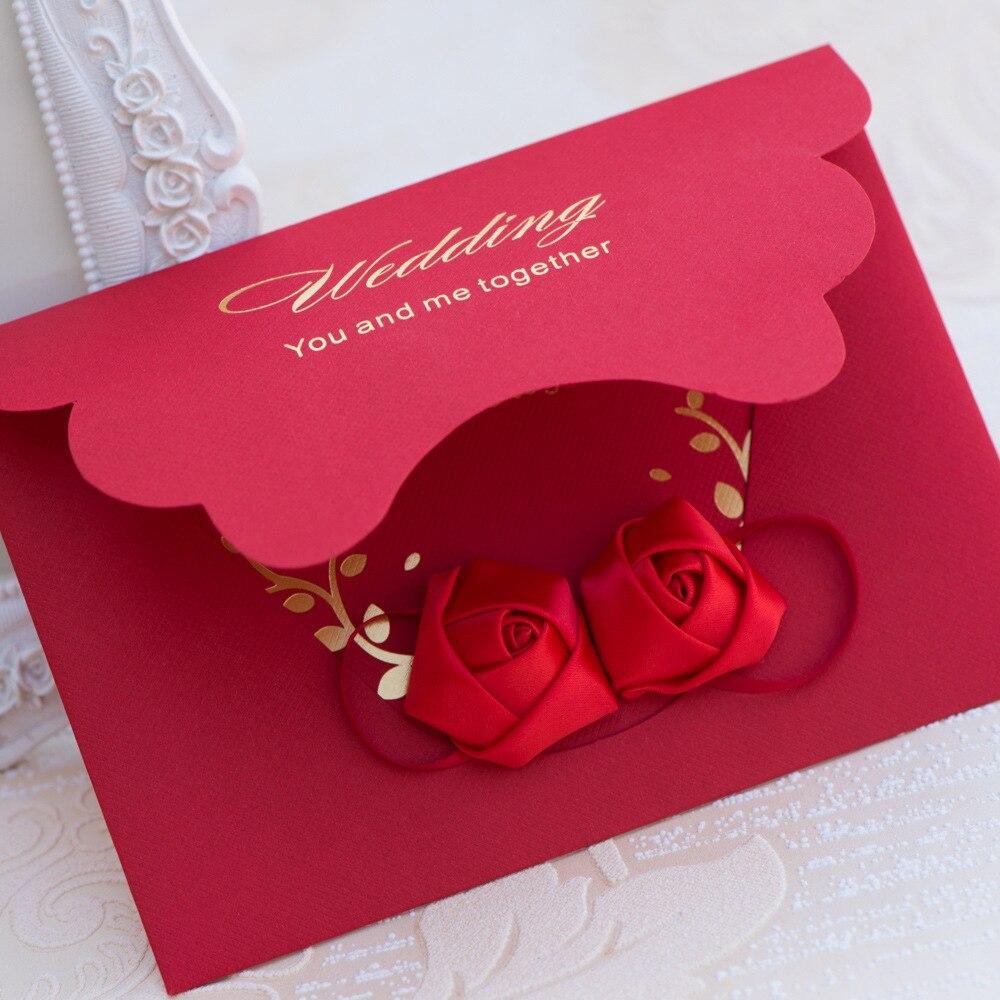 10pcs/lot 2017 Creative Wedding Invitation Card European Style ...