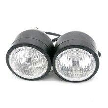 Motorcycle Headlights General Twin Headlight Motorcycle Double Dual Head Lamp Dominator For Harley Honda Yamaha Kawasaki Suzuki