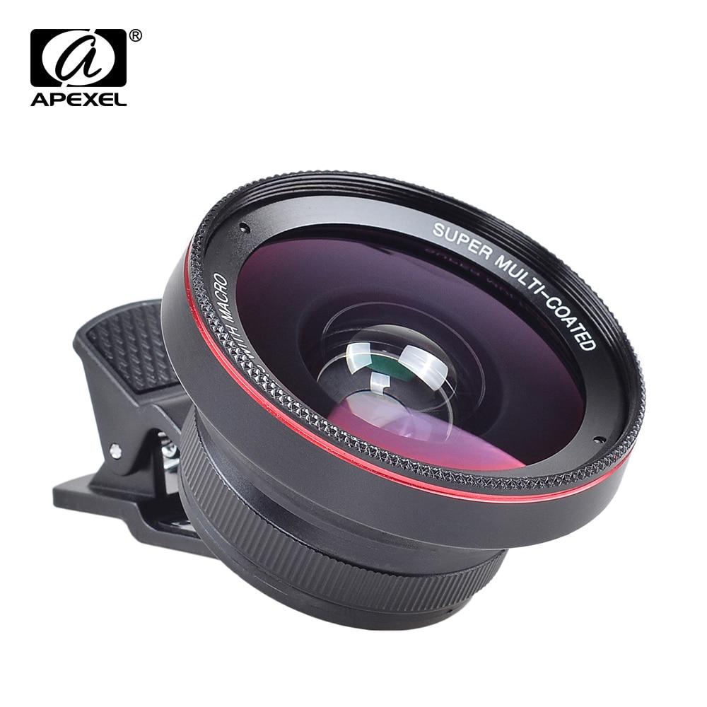 imágenes para 2 en 1 Lente Gran Angular 0.6X 12.5X Lente De Cristal Óptico lente macro lente kamera móvil para iphone ipad mini air samsung APL-0.6XWM