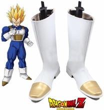 Free Shipping Dragonball Z Vegeta Super Saiyan White Boots Anime Cosplay Shoes