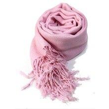 Высокое качество женщин дамы шеи шарф простой пашмины платок хиджаб обернуть Высокое качество 100% вискоза шарфы