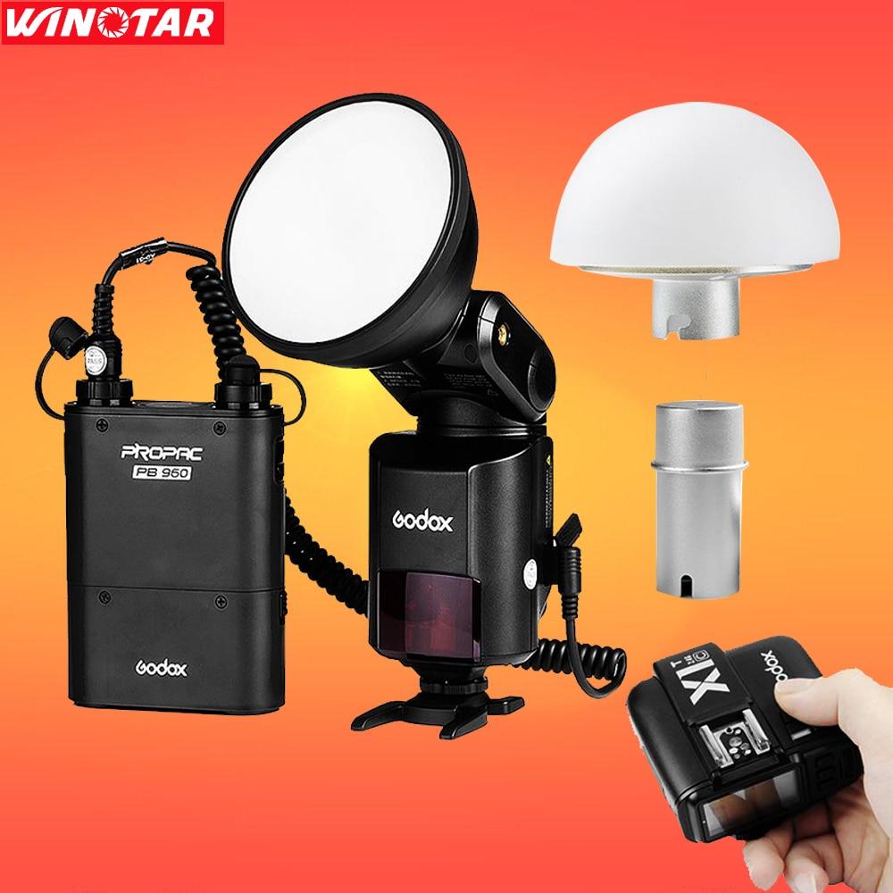 Godox AD360 AD360II 360W E-TTL Flash For Canon + Soft Diffuser + Battery + X1C Trigger nissin di600 фотовспышка для canon e ttl e ttl ii