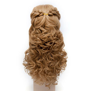 Image 3 - L email wig Brand Hot Sale Women Princess Cosplay Wigs Long Curly Braid Hair Heat Resistant Synthetic Hair Perucas Cosplay Wig