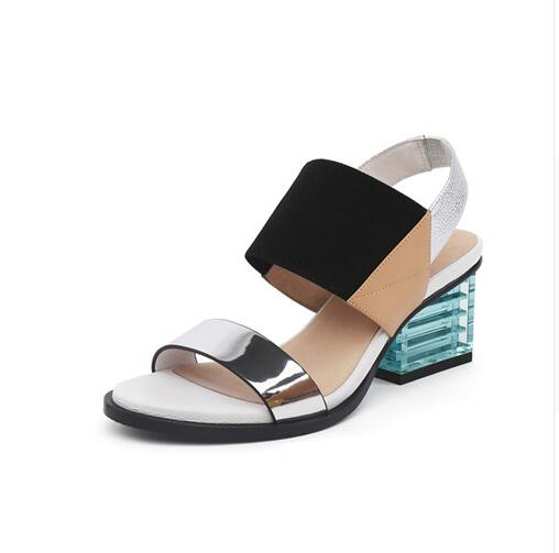 Women Sandals Summer Mixed Color Basic Sandals Women Transparent Square Heel Female High Heels 6cm Shoes WomenWomen Sandals Summer Mixed Color Basic Sandals Women Transparent Square Heel Female High Heels 6cm Shoes Women