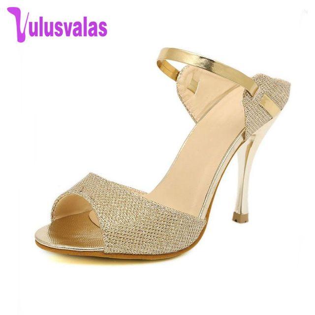 d1e0146d4a14 High Heels Sandals slippers Ankle-Wrap Women Sandals Beautiful Ladies  Sandals Summer Shoes Gladiator Heels