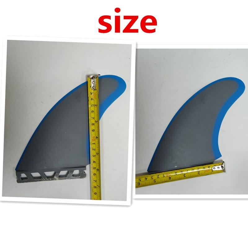 NOUVEAU Design GFK fiber de verre ailerons 2 pcs/ensemble XXL taille surf ailettes jumeau pour Future boite AILERON de surf