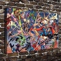 A2936 Marvel Vs DC Superman Comics Cartoon Figure HD Canvas Print Home Decoration Living Room Bedroom