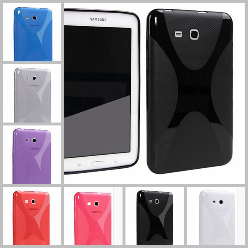 X Line soft Silicone TPU Gel Case Back Cover Skin Shell for Samsung Galaxy Tab 3 Lite 7.0 T110 T111 T115 T116 (SM-T110) new x line soft clear tpu case gel back cover for samsung galaxy tab s2 s 2 ii sii 8 0 tablet case t715 t710 t715c silicon case