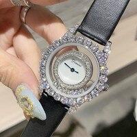 Super Luxury Women Dress Watches Women Stylish Roll Drill Crystal Rhinestones Quartz Wristwatch New Bracelet Ladies Watch Gift