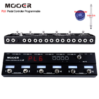Mooer Pedal Controller Programmable Loopswitcher with 6 Loops L6 PL6 With Free connector